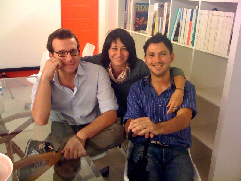 Nicolò, Federica e Alberto di The Hub al Cowo.